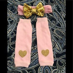 Other - Infant bow & tube socks
